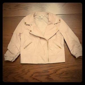 Dsigned Disney Faux Leather Pink Jacket 6